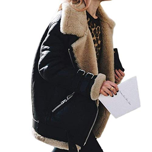 Laine D'extérieur Chic Battercake Polaire Mode Coat Avec Manteau Épaissir Bouffant Vêtements De Revers Schwarz Poches Longues Qualité Manches Veste Hiver Fermeture Éclair Bonne Zipper Femme Latérales EqwAfxSq