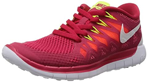 NIKE Free 5.0 Ladies Running Shoe, Red, (Fucsia Tessuto Calzature)