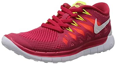 Nike Free 5.0 Women's Running Shoes Size US 5, Regular Width, Color Red/White/Lime