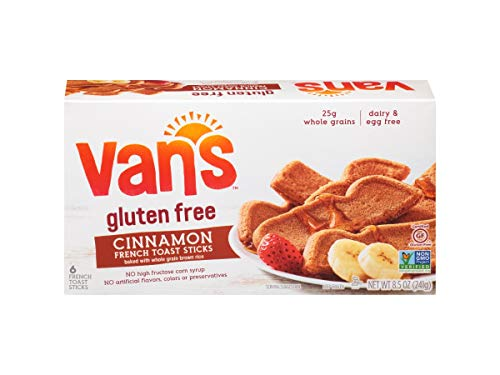 Vans International Foods, French Toast Sticks Cinnamon Wheat Free Gluten Free, 8.5 Ounce, 12 Pack ()