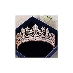 Rose Gold Crystal Tiaras For Brides