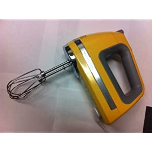 KitchenAid KHM920bf 9-Speed Most Powerful Digital Display Power Hand Mixer Buttercup Yellow