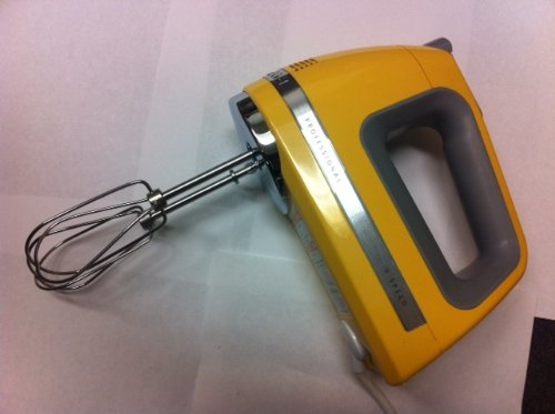 KitchenAid KHM920bf 9-Speed Most Powerful Digital Display Power Hand Mixer Buttercup Yellow