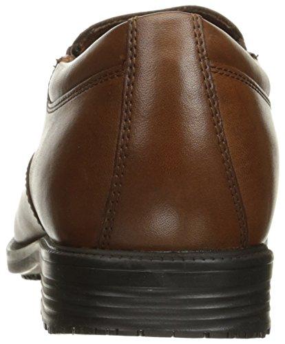 Rockport Mens Dettagli Essenziali Impermeabile Slip-on Mocassino In Pelle Anticata Marrone Chiaro