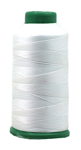 Mandala Crafts Bonded Nylon Thread for Sewing Leather, Upholstery, Jeans and Weaving Hair; Heavy-Duty; 1500 Yards Size 69 T70 (White)