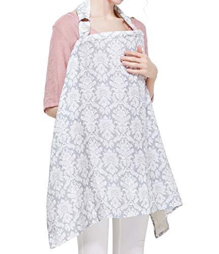 Breastfeeding Nursing Cover,Breathable Cotton Privacy Feeding Cover, Feeding Apron,Adjustable Strap, Stylish and Elegant (Style 2)