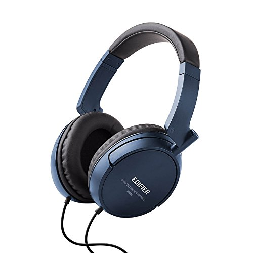 Edifier H840 Audiophile Over-The-Ear Headphones - Hi-Fi Over-Ear Noise-Isolating Closed Monitor Music Listening Stereo Headphone - Blue