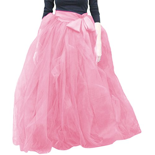Pink Soire Wdpl A Tutu Tulle Line jupes Robe Femme 024 volants 0zxqrO0n