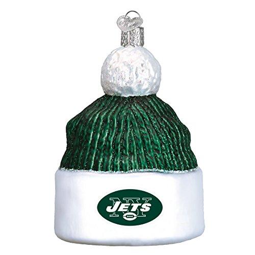(New York Jets Beanie Cap Football Glass Christmas)