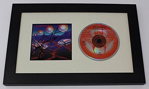 journey steve perry signed autographed music cd cover insert framed