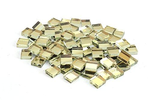 Milltown Merchants Mirrored Mosaic Tile (1 Pound, Gold Mirrored Square - 4/10 Inch)