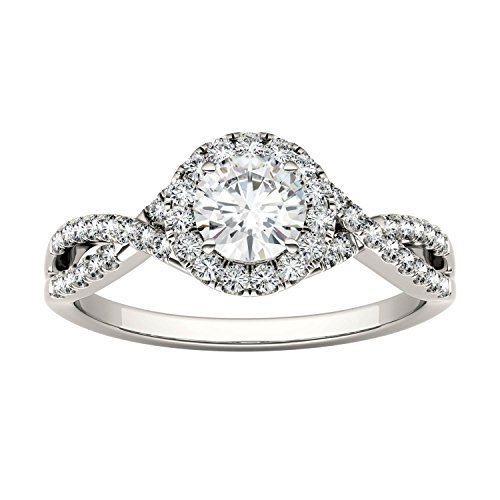 Forever Brilliant Round 5.0mm Moissanite Engagement Ring-size 6, 0.95cttw DEW By Charles & Colvard