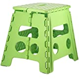 Home-it Folding Children Step Stool and for Adults 13 In. Green