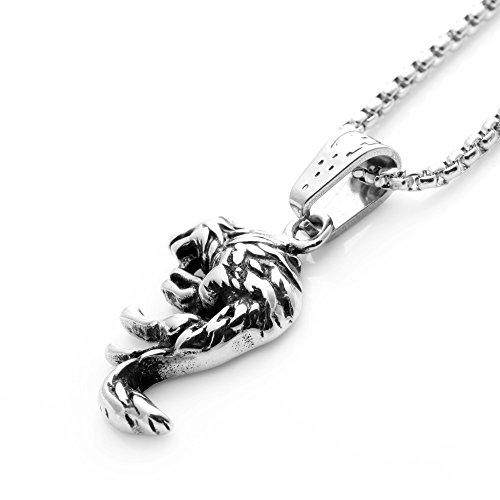 f266631ff194 50% de descuento senfai joya de la moda retro collar con colgante de lobo  plateado