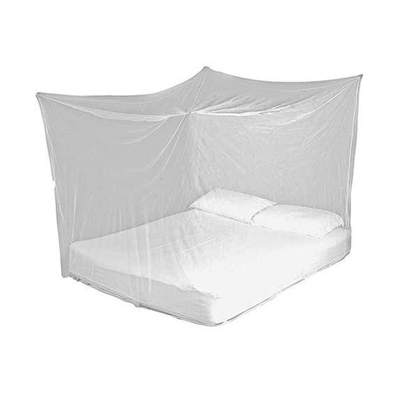 Divayanshi Polycotton Mosquito net for Bed (White, 3 x 6.5 ft)