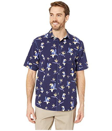 Tommy Bahama Toucan Do Camp Shirt (Color: Ocean Deep, Size XXL)