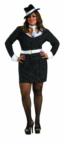 Secret Wishes Plus Size Gun Moll Costume, Black, (1920's Costumes Halloween)