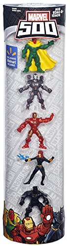 Marvel 500 Mini Figure 5-Pack (Vision, War Machine, Iron Man, Black Widow and Black Panther)