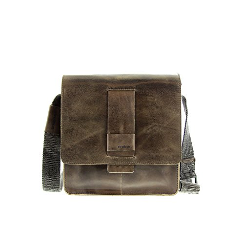 Strellson Lambeth Leder Messenger Bag SVF Cross Bag Umhängetasche grey grau
