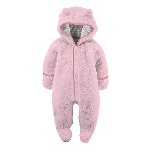 Magnetic Me So Soft Minky Fleece Magnetic Snowsuit Bunting Pram Peony Pink