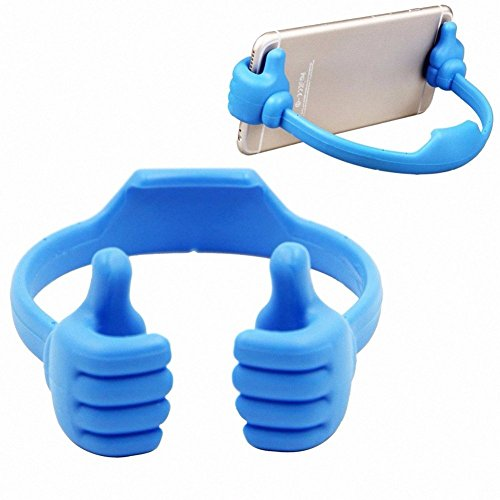 Gaobei Universal Flexible Cute Thumb Designed Smartphone Tablet Desk Table Stand Display Mount Holder for All Cell Phone(Blue)