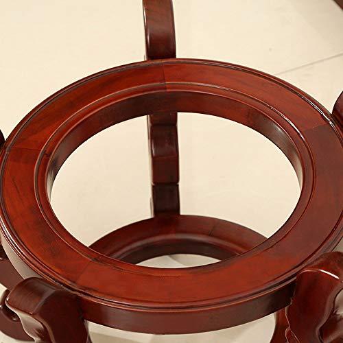 YUEQISONG Estructura del Tanque de Peces Madera Maciza Color Caoba Redondo Estantes de Flores Fuertes Y Resistentes Balcón Cocina, 30 * 28 cm: Amazon.es: ...