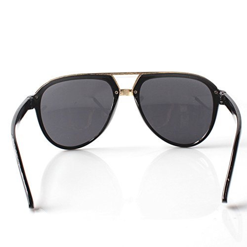Schwarzes Accessoryo única negro de de Gafas para Gafas hombre sol sol Talla Gold zzwS6