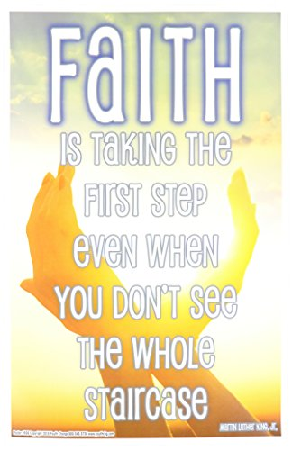 Youth Change Inspirational Martin Luther King Quote, Faith is Taking the First Step (Poster #606)