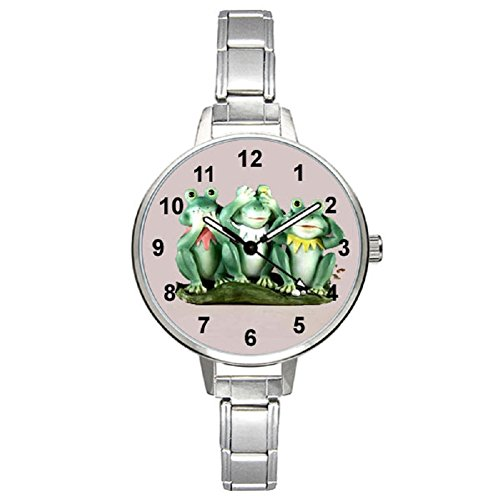 (Timest - Frogs - Womens Stainless Steel Italian Charms Bracelet Watch BM0365)