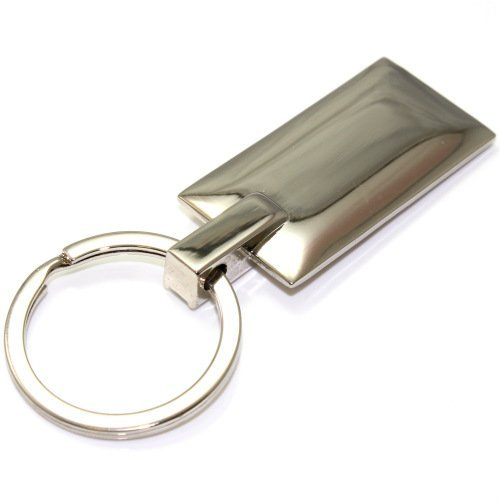 Jeep Grille Logo Metal Chrome Rectangular Crystal Diamond Bling Key Chain