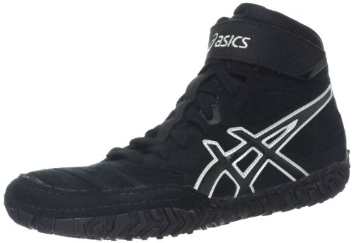 Asics Mens Aggressor 2 Wrestling Shoe Black / Onyx / Silver
