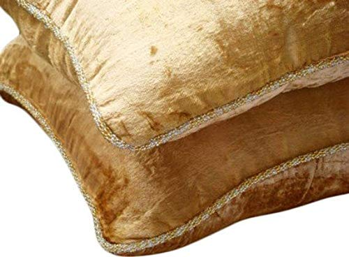 Gold Decorative Pillows Cover, Solid Color Beaded Cord Pillow Cover, 20