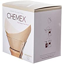 Chemex Natural Coffee Filters, Square, 100ct