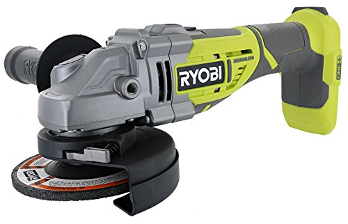 Ryobi P423 18V One Brushless 4-1 2 10,400 RPM Grinder and Metal Cutter w Adjustable 3-Position Side Handle and Onboard Spanner Wrench Battery Not Included, Power Tool Only