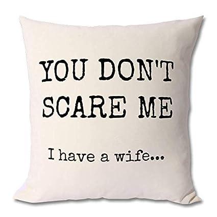Georgia Barnard Funny Gift Husband Cushion Case For Sofa Bed 18 X