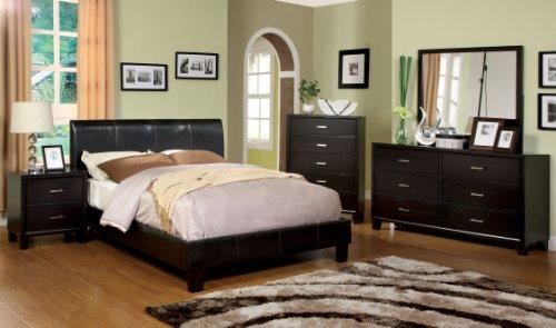 Furniture of America Moraine Modern Platform Bed, Twin, Espresso Finish