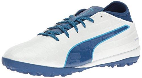 Scarpe da calcio Evotouch 3 TT da uomo, Puma White-True Blue-Blue Danube, 7.5 M US