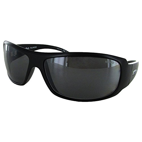 Revo Sunglasses Revo Re 5010x Gunner Polarized Wraparound Sunglasses Wrap, Matte Black Graphite, 66 ()