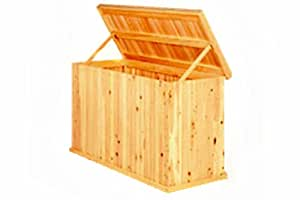 Smith Family Mills 16154 Classic Cedar Deck Box with Plywood Bottom, 5-Feet, Natural