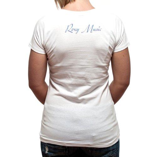Roxy - Camiseta de Roxy Music con cuello redondo para mujer Blanco