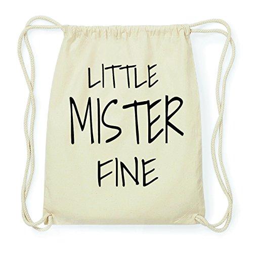 JOllify FINE Hipster Turnbeutel Tasche Rucksack aus Baumwolle - Farbe: natur Design: Little Mister