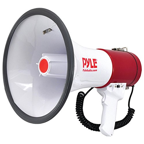 BLTH MEGA SIREN BLHRN, Bluetooth(R) Megaphone Bullhorn with Siren, Built-in Bluetooth(R) streaming, 1,200-yard range, For indoor/outdoor use, Used by U.S. Armed Forces, Max output: 50W
