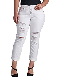 Amazon.com: White - Jeans / Plus-Size: Clothing, Shoes & Jewelry