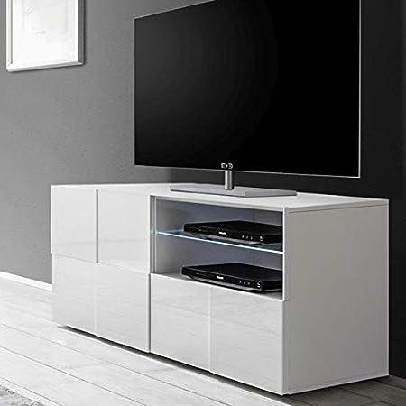 Kasalinea Domos - Mueble para televisor, Color Blanco Lacado Brillante: Amazon.es: Hogar