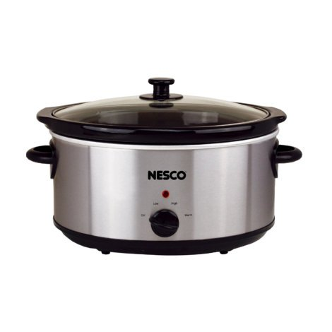 6-QUART OVAL ANALOG SLOW COOKER - STAINLESS STEEL