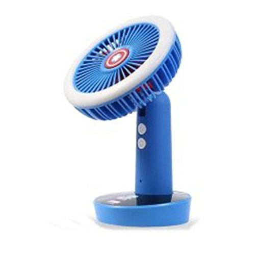 TKDS Marble Avengers Wireless LED Handy Fan/Gift/Portable/Electronic/Convenience/Desktop/Outdoor/Indoor/Children/Summer/Spring/Excursion/Mountain/Camping (captain america) (3w Light Break Outdoor)