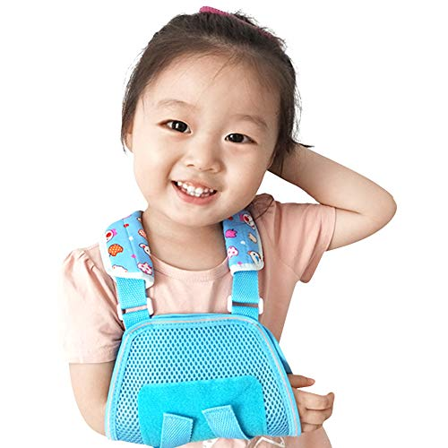 Ibnotuiy Kids Fracture Sling Arm Elbow Fracture Fixed Brace Children Breathable Wrist Dislocation Protection Support (Blue) (S)