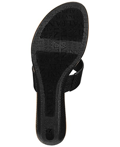Alfani Womens Fleurr Open Toe Casual Slide Sandals Black fHsfzC4