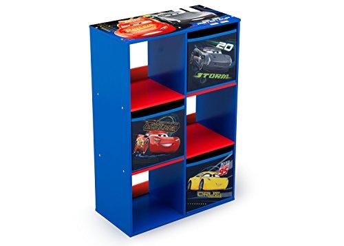Delta Children 6 Cubby Storage Unit, Disney/Pixar Cars