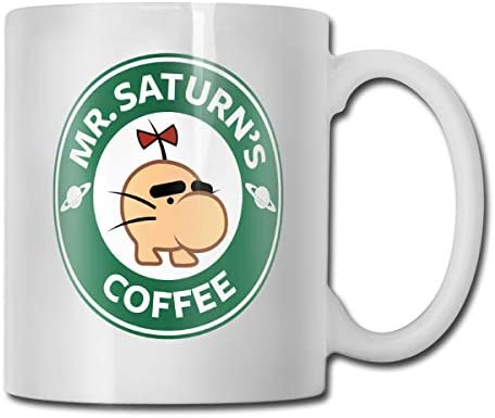 antspuent MR.Saturn's Coffee Funny Coffee Mug - 11 Ceramic Coffee Cup - Best Gifts Idea for Christmas, Valentine and Birthday, Father's Day and Mother's Day Cup